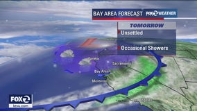 Mostly cloudy, chance for showers