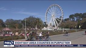 8 Bay Area counties in purple tier