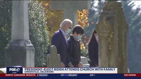 President-elect Joe Biden attends church with family