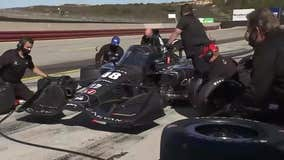 Newly retired NASCAR driver Jimmie Johnson tests IndyCar at Laguna Seca