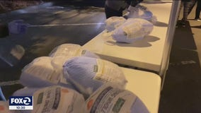 Thanksgiving food giveaway also offers free flu shot for those willing to roll up their sleeves