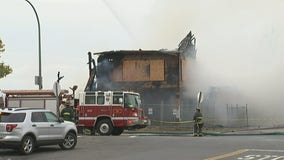 Fire at allegedly abandoned building