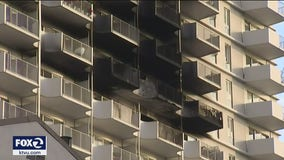 Fire in San Francisco high-rise injures 5, building not equipped with fire sprinklers