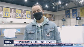 Steph Curry shows up at Oakland voting site to get out the vote
