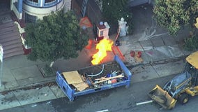 Natural gas leak starts fire in San Francisco, prompts evacuations
