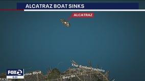 Small boat sinks near Alcatraz