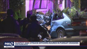SFPD searching for additional suspects in pursuit crashes