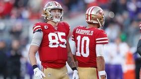 Report: 49ers' George Kittle, Jimmy Garoppolo to miss multiple weeks