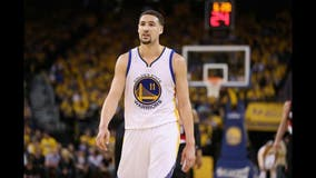 Warriors guard Klay Thompson suffers right leg injury