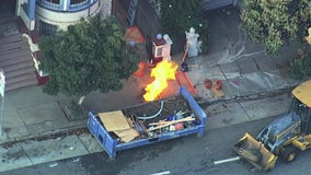 Gas leak, fire in San Francisco forces evacuations