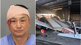 DUI suspected after man collides with parked plane at small San Jose airport