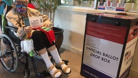 103-year-old Half Moon Bay resident, who's never missed an election, casts her ballot