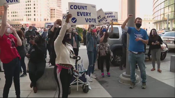 Republican poll watchers demand to be let in during Detroit vote count