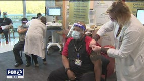Front line workers in San Francisco, Martinez roll up their sleeves for COVID vaccine