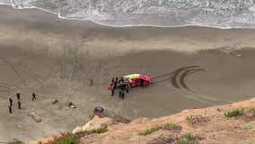 Woman rescued after car goes over cliff at Fort Funston Christmas morning