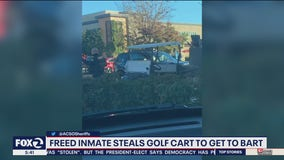 Man released from Santa Rita steals golf cart to get to BART: sheriff
