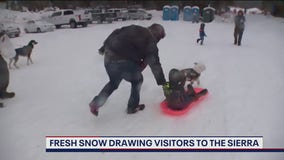 Fresh snow drawing visitors to the Sierra