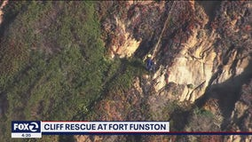 Man and dog rescued from Fort Funston