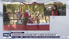 Rep. Jackie Speier helps with gift card giveaway at Samaritan House and discusses stimulus bill