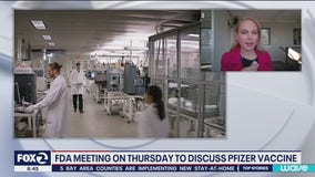 FDA panel meeting on Thursday to discuss Pfizer vaccine