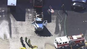 'Fully engulfed' big rig crashes into Union City building