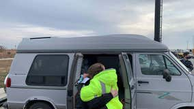'This shows who they are': Deputies buy van for woman who walked miles to work