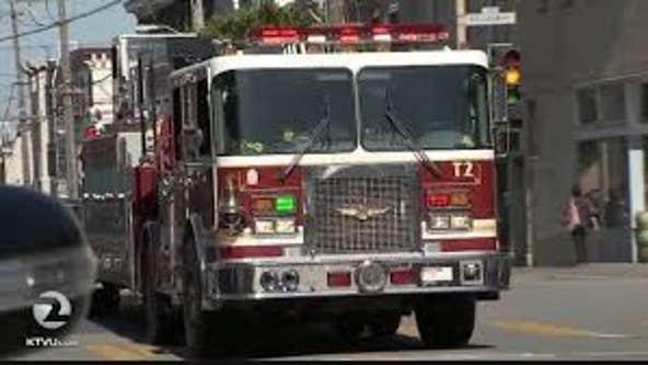 Emergency crews in San Francisco respond to an underground vault fire