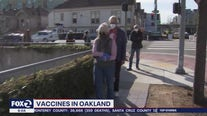 Long lines in Oakland to get the vaccine
