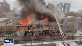 4-alarm fire destroys commercial building in downtown San Jose
