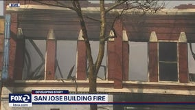 San Jose building fire destroys commercial building