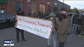 Rally against new operator at Civicorps charter school