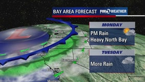 Rain returns to the Bay Area this week, rainfall totals still below average