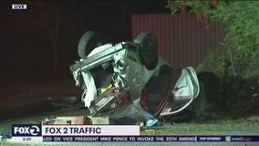 Driver flies off freeway in Walnut Creek; car lands on street below