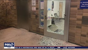 Protesters vandalize Vacaville Police Department