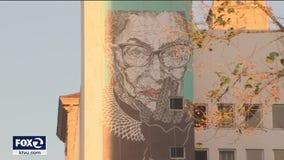 Larger than life artwork celebrates Ruth Bader Ginsburg in San Jose
