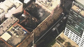 SkyFOX over a fire in San Jose