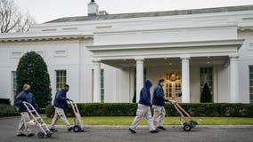 Inauguration Day is move in/out day at the White House