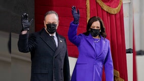 Kamala Harris, Hillary Clinton, Michelle Obama wear purple at Biden inauguration