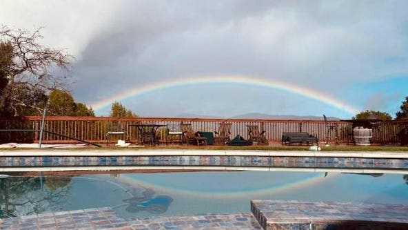 Rainbows appear over the Bay Area after intermittent showers