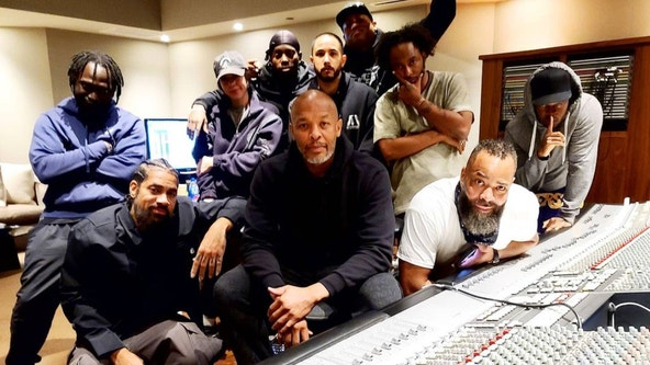 Dr. Dre back in studio one day after being released from hospital