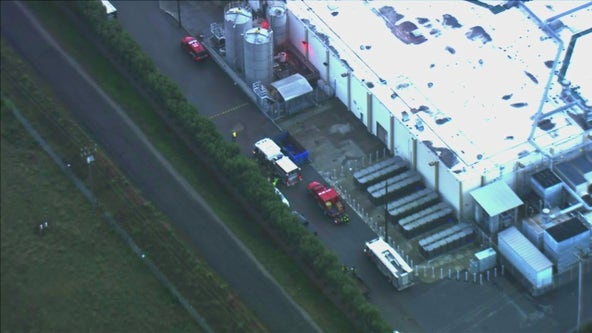 San Jose fire department hazmat team respond to ammonia spill