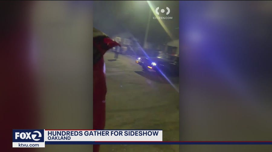 Hundreds gather in Oakland for illegal sideshow
