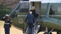 Air Force One departs from White House to Joint Base Andrews