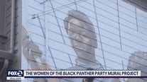 The women of the Black Panther Party Mural Project