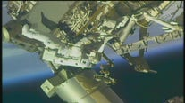 ISS spacewalk focuses on solar panel repairs