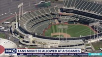 Fans might be allowed at A's games