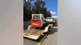 Piedmont police recover stolen dump truck and tractor, suspect flees