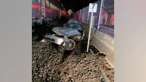 Caltrain strikes unoccupied vehicle in Redwood City, no reported injuries
