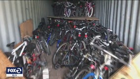 Shipping container loaded with donated bicycles stolen from North Bay business