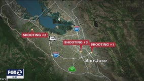 Three shootings early Saturday morning in San Jose leaves 1 dead, 3 wounded